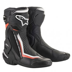 STIVALE ALPINESTARS SMX PLUS V2 Black/White/Red Fluo