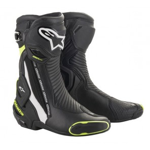 STIVALE ALPINESTARS SMX PLUS V2 Black/White/Yellow Fluo (125)