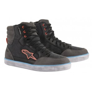 SCARPA ALPINESTARS J-6 WATERPROOF CANVAS Black/Anthracite/Light Blue (1147)