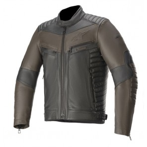 GIACCA PELLE ALPINESTARS BURSTUN Black/Brown