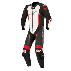 TUTA PELLE ALPINESTARS MISSILE 1PC T-AIR Black/White/Red Fluo