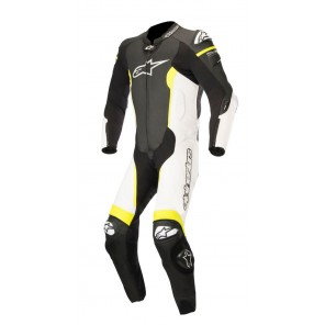 TUTA PELLE ALPINESTARS MISSILE 1PC T-AIR Black/White/Yellow Fluo