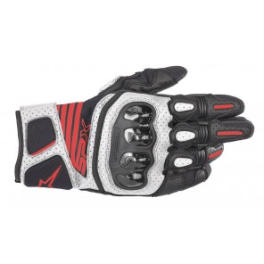 GUANTO ALPINESTARS SP X AIR CARBON V2 Black/White/Red Fluo