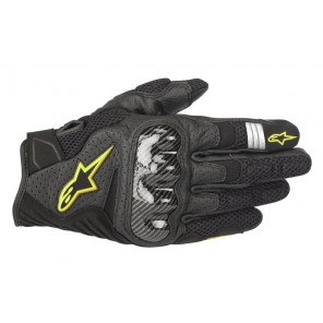 GUANTO ALPINESTARS SMX-1 AIR V2 BLACK YELLOW FLUO (155)